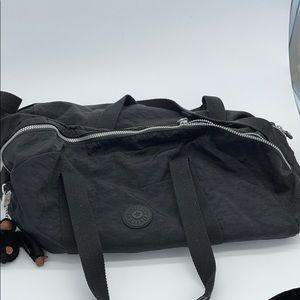 Kipling Nylon Black Duffle Weekender Bag